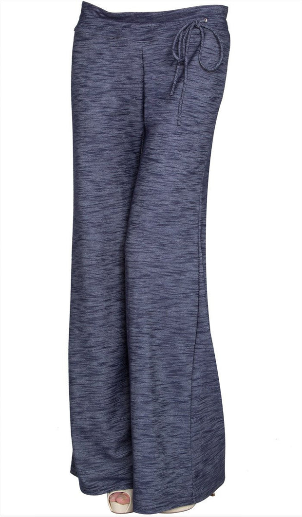 Ruba Comfy Knit Wide Leg Pants - Denim Blue - ARTIZARA.COM