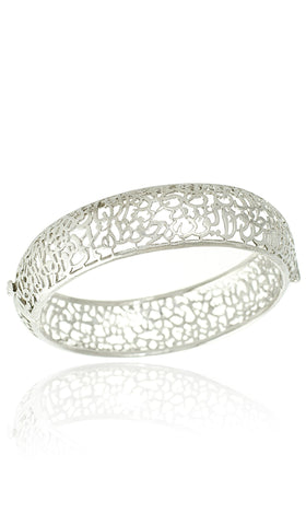 Sterling Silver Ayat al Kursi Bangle Bracelet