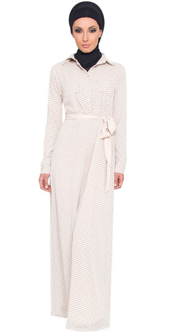 Uma Dot Print Chiffon Maxi Dress - Off White