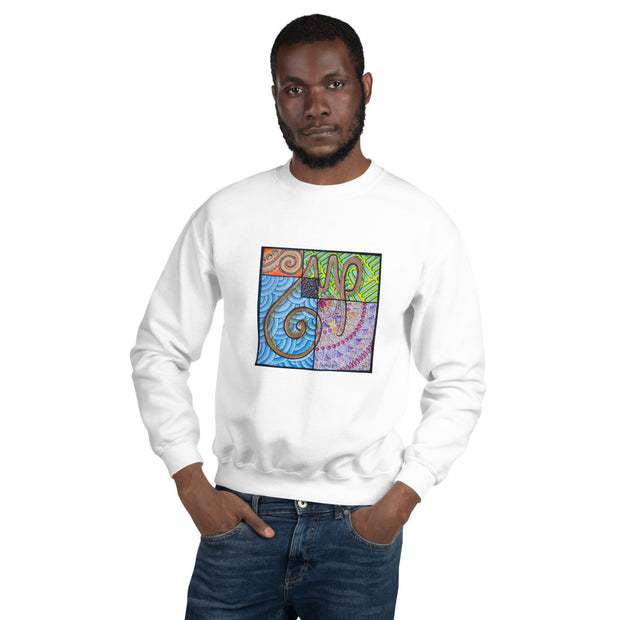 Pullover Sweatshirt with Arabic Calligraphy - Sabr (صَبْرٌ‎)