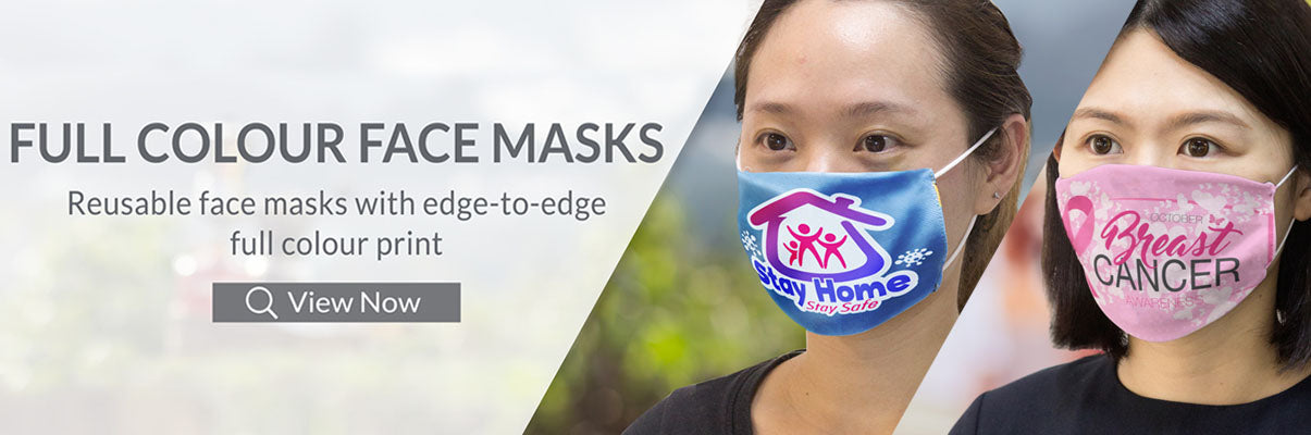 Full colour brand face masks