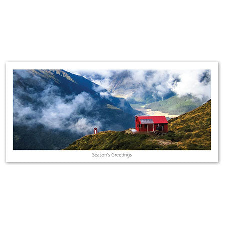 Seasons Greeting Card - Liverpool hut