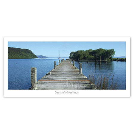 Seasons Greeting Card - Summer pier