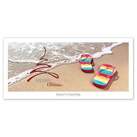 Seasons Greeting Card - Jandals