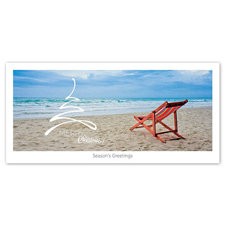 Seasons Greeting Card - Beach chair