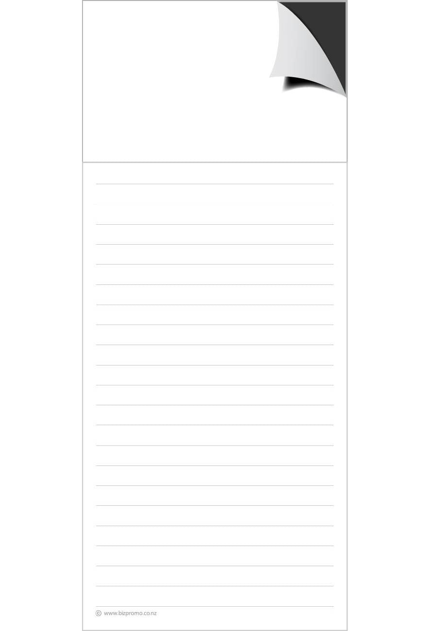 Magnetic Note Pad - Plain