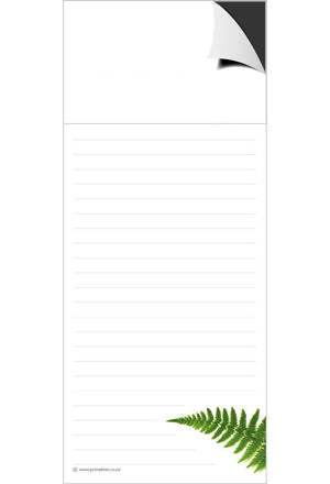 Magnetic Note Pad - Silver Fern