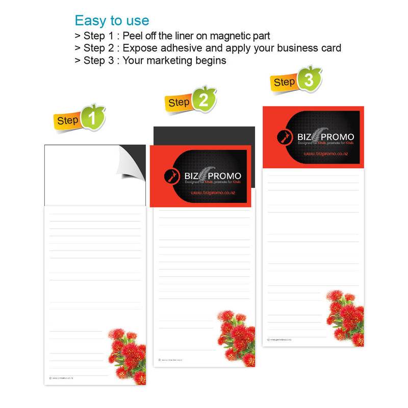 Magnetic Note Pad - Pohutukawa -  SOLD OUT (AVAILABLE 25th of AUGUST)