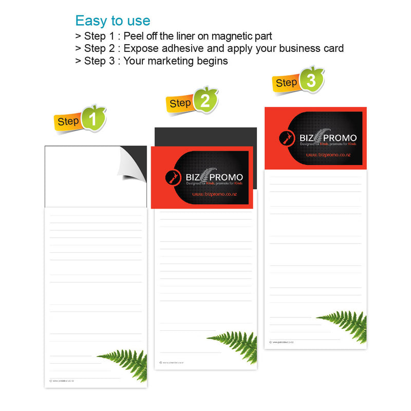 Magnetic Note Pad - Silver Fern - Available Mid-January