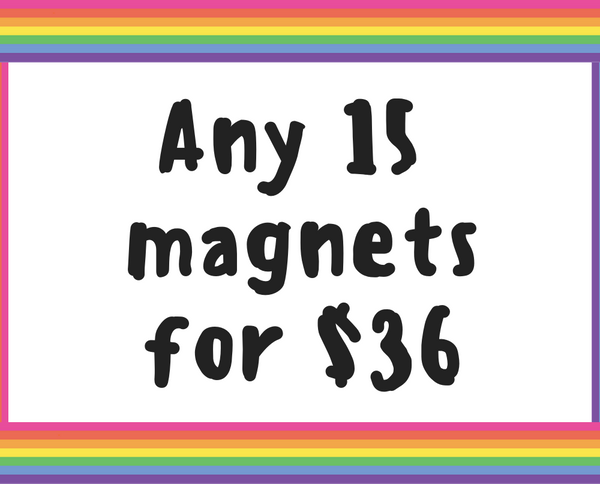 Fridge magnet deal // Fifteen 1.25 inch magnets - Radical Buttons