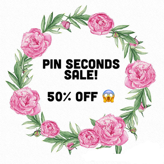 FLAWED PINS SALE - Seconds sale at 50% off!