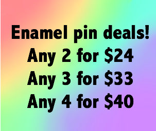 Enamel pin deal: pick 2, 3 or 4 pins at a discount! - Radical Buttons