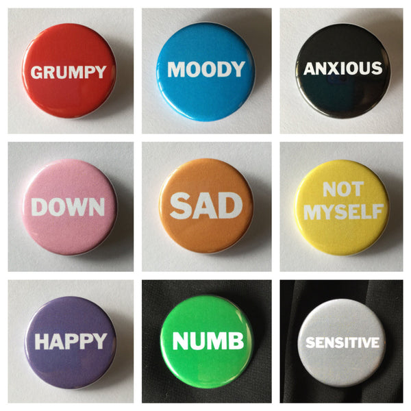 Mood/feelings buttons - Radical Buttons