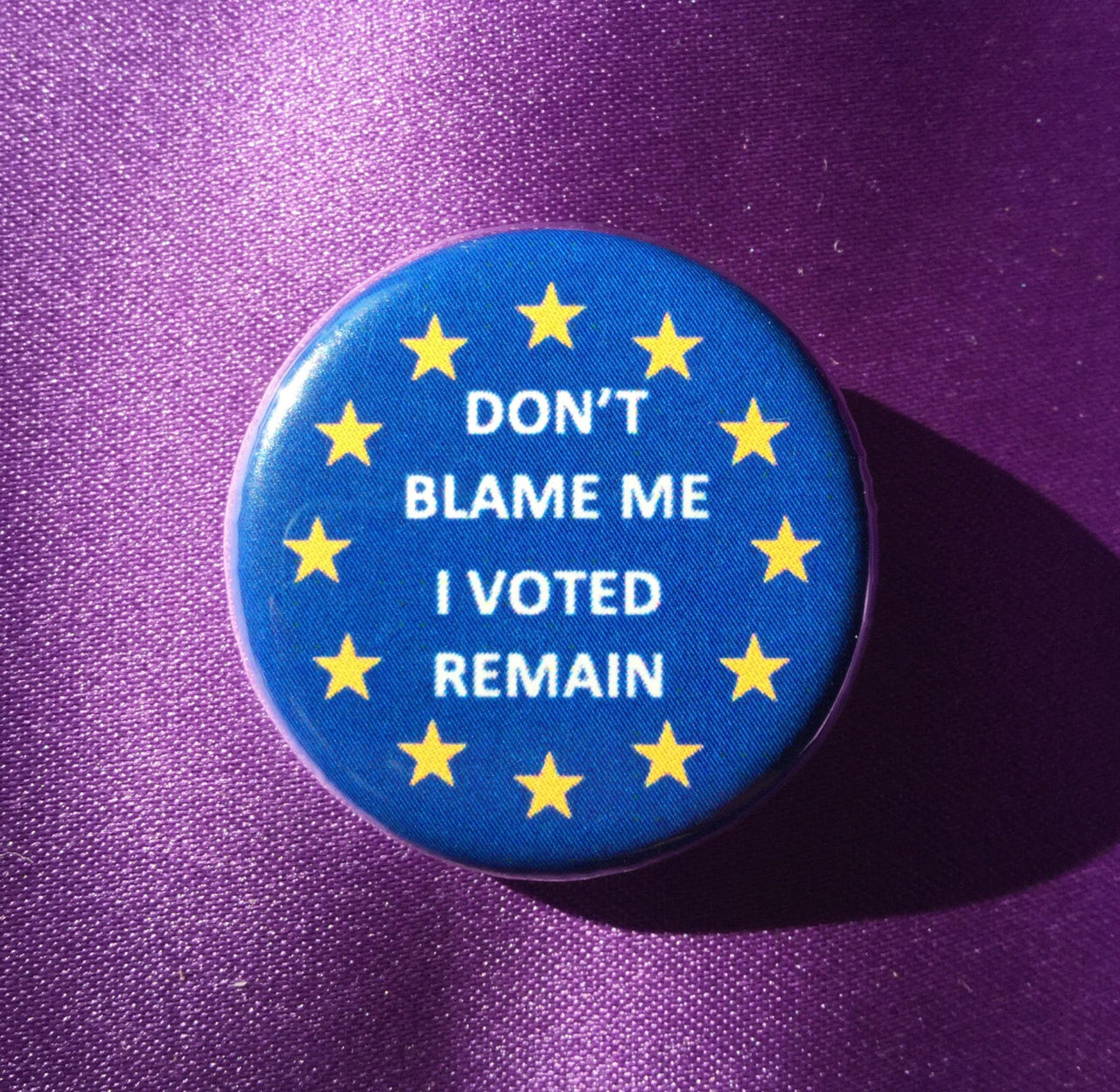 Don't blame me, I voted remain button - Radical Buttons