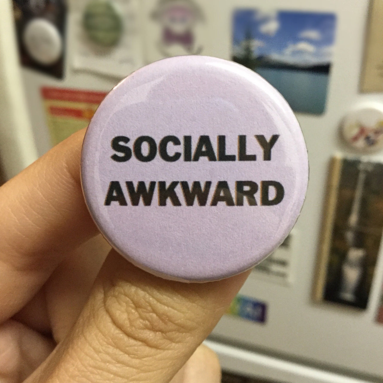 Socially awkward button - Radical Buttons