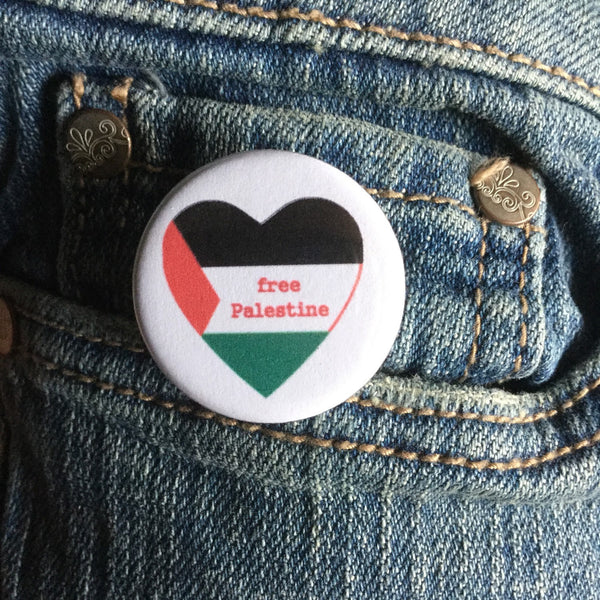 Free Palestine button - Radical Buttons