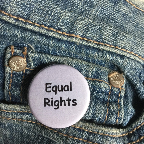 Equal rights button - Radical Buttons