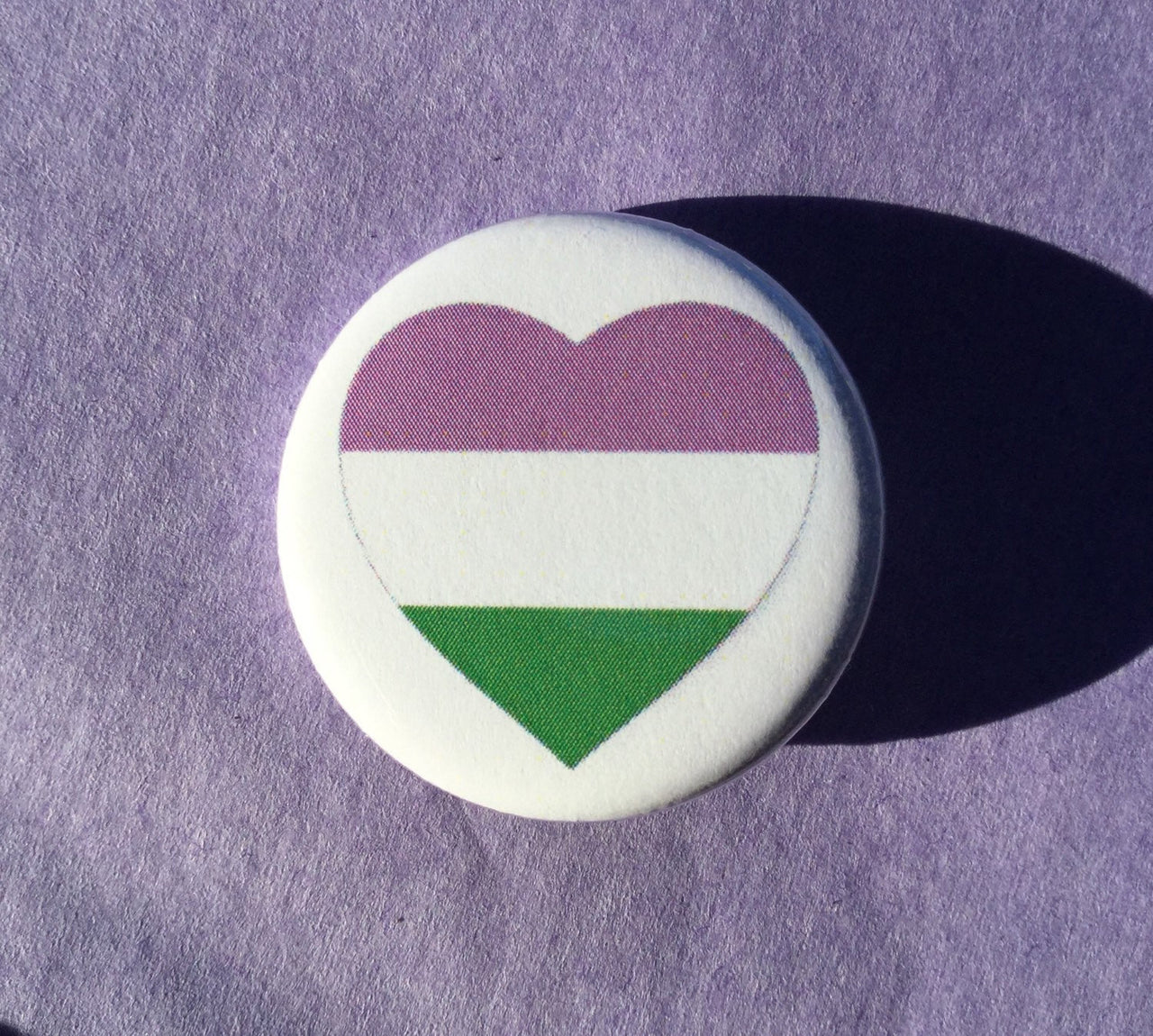 Genderqueer pride button - Radical Buttons