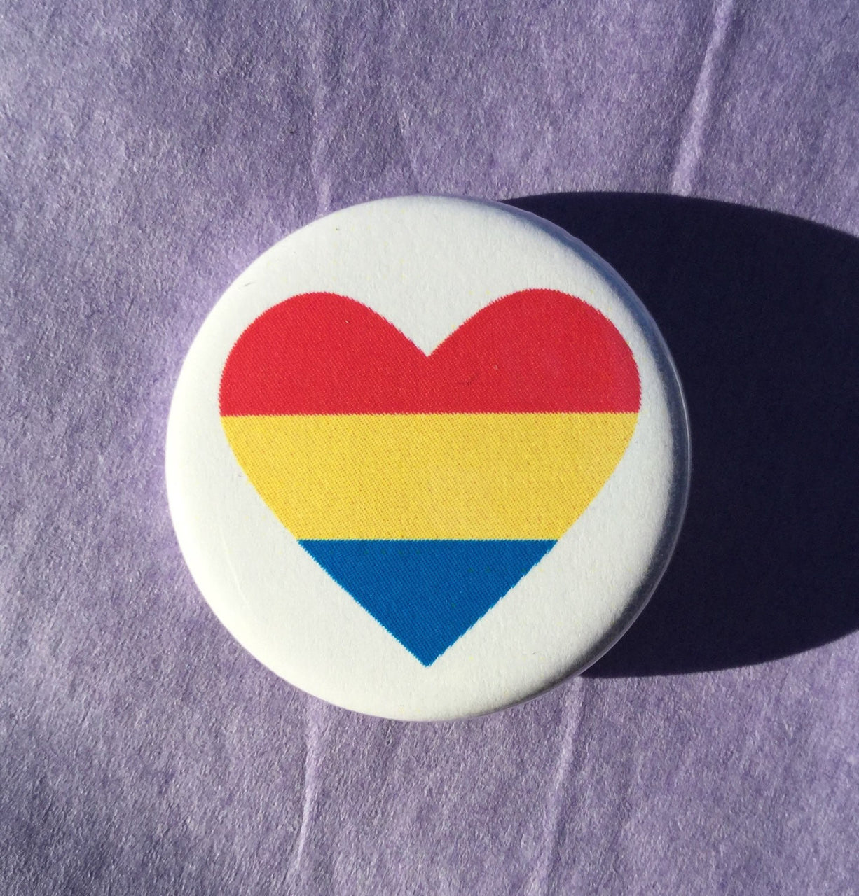 Pansexual pride button - Radical Buttons
