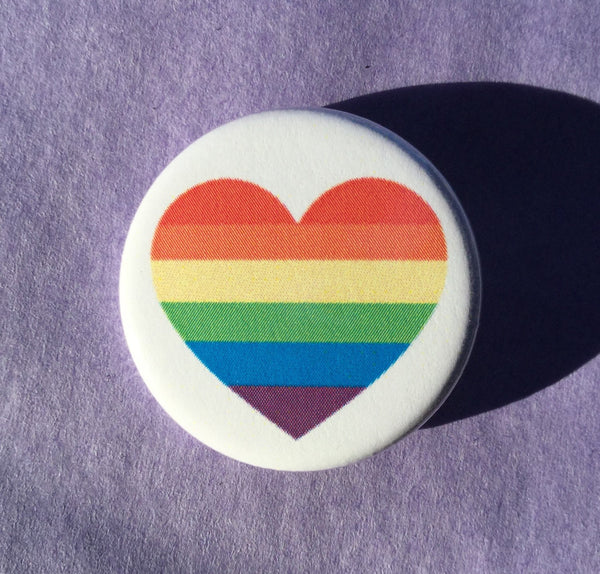 Gay pride rainbow flag button - Radical Buttons