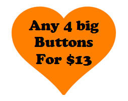 Button deal - Four 2.25 inch buttons - Radical Buttons