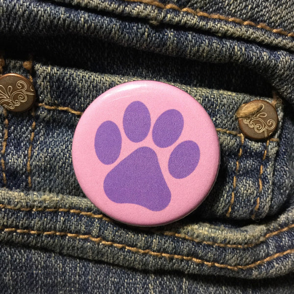 Animal paw button - Radical Buttons