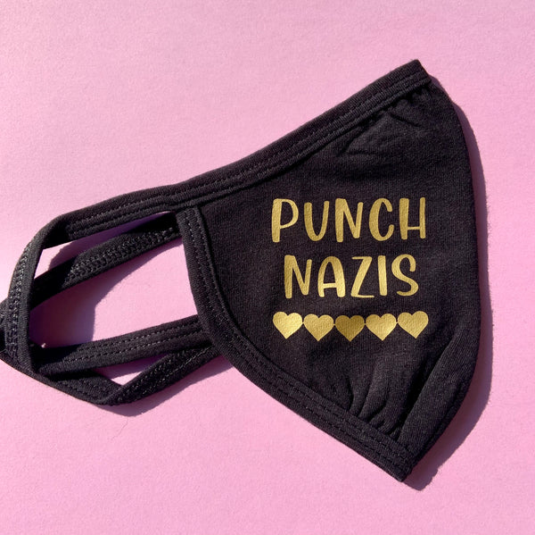 Punch Nazis face mask