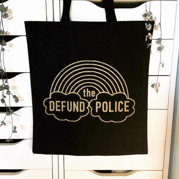 Defund the police tote bag