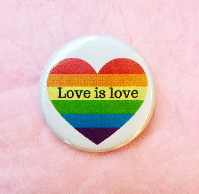 Love is love gay pride heart
