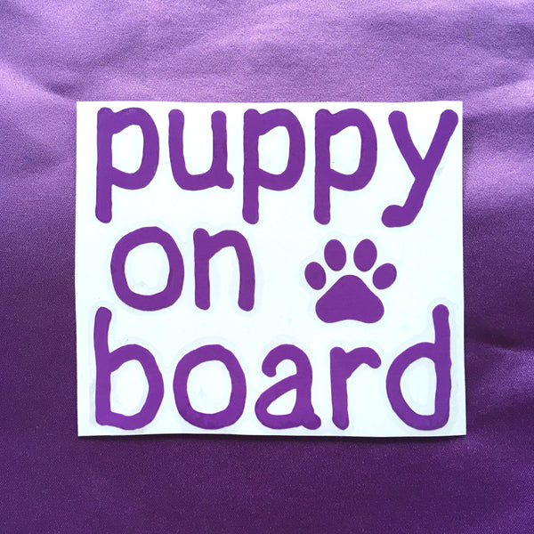 Puppy on board decal - Radical Buttons