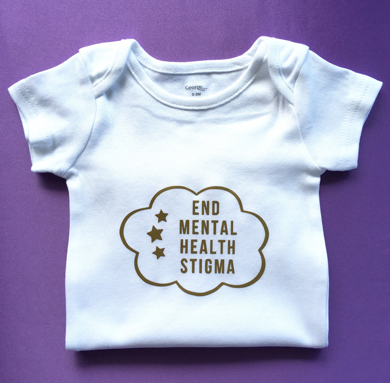 End mental health stigma baby bodysuit - Radical Buttons