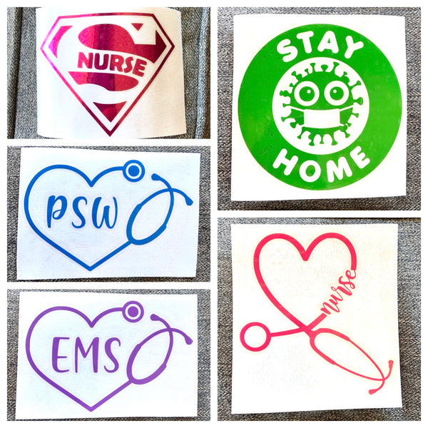 Health care worker decals - Radical Buttons