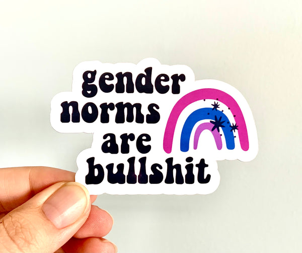 Gender norms are bullshit stickers (pack of 3 or 5)