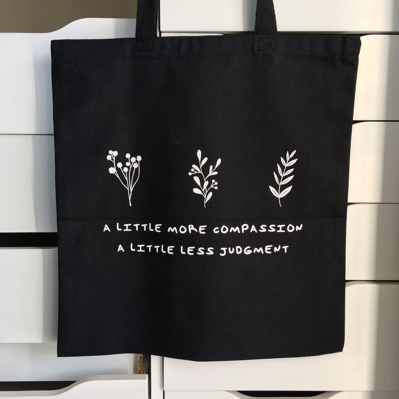 A little more compassion tote bag - Radical Buttons