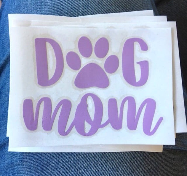Dog mom decal - Radical Buttons