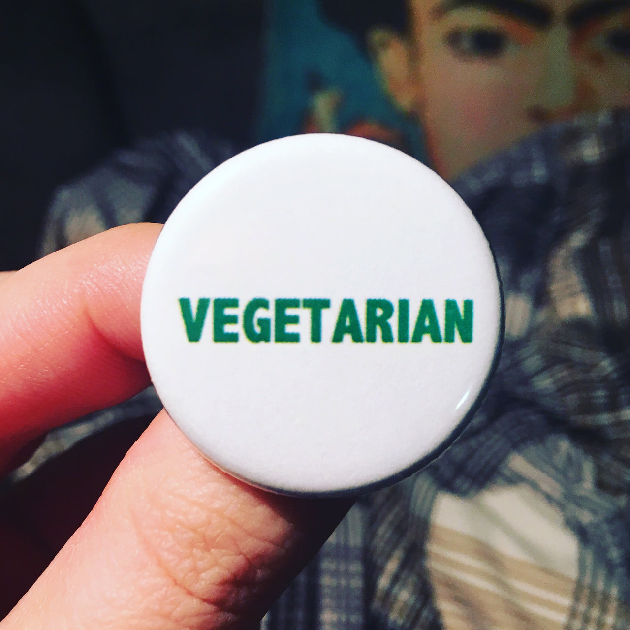 Vegetarian button - Radical Buttons