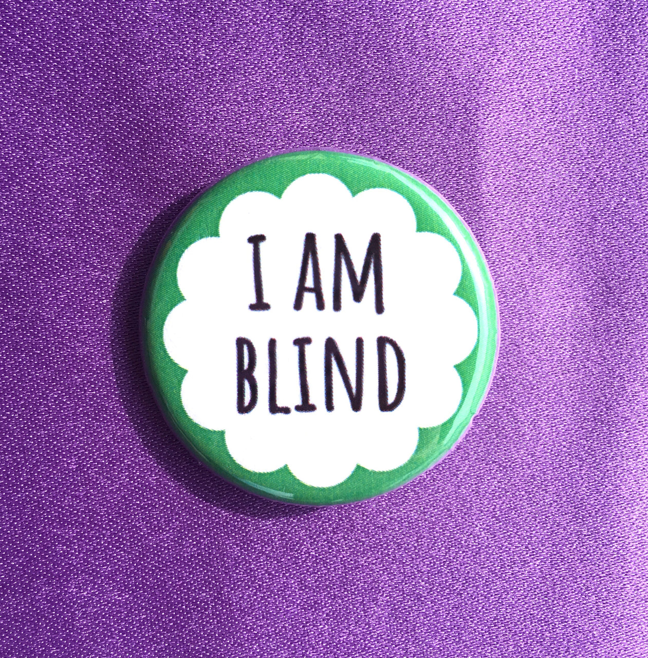 I am blind - Radical Buttons