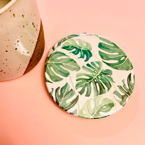 Monstera coasters