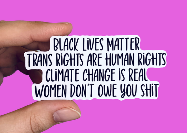 BLM social justice stickers (pack of 3 or 5)