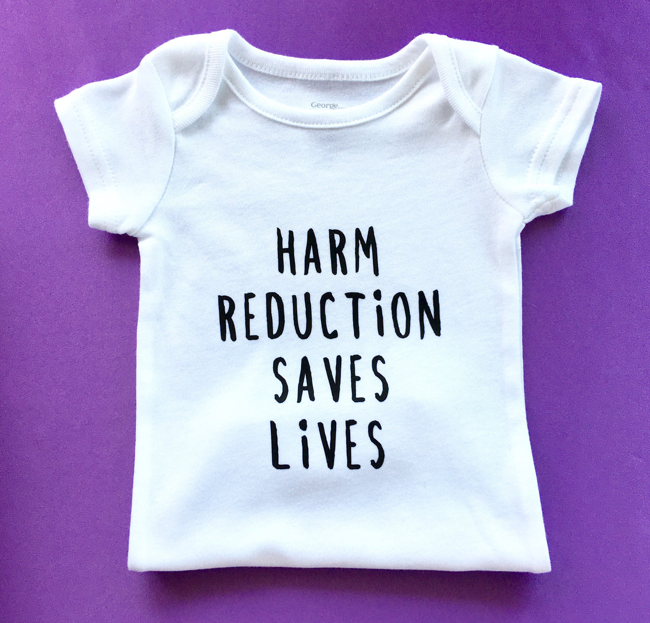 Harm reduction saves lives baby bodysuit - Radical Buttons