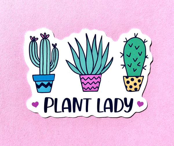 Plant lady stickers (pack of 3 or 5)