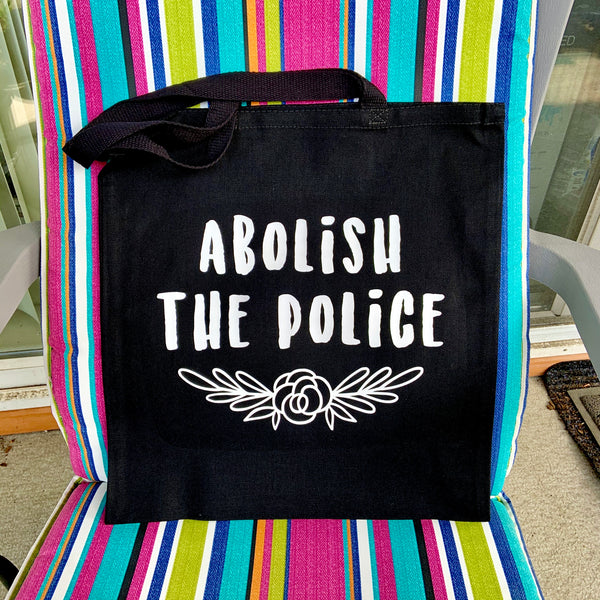 Abolish the police tote bag