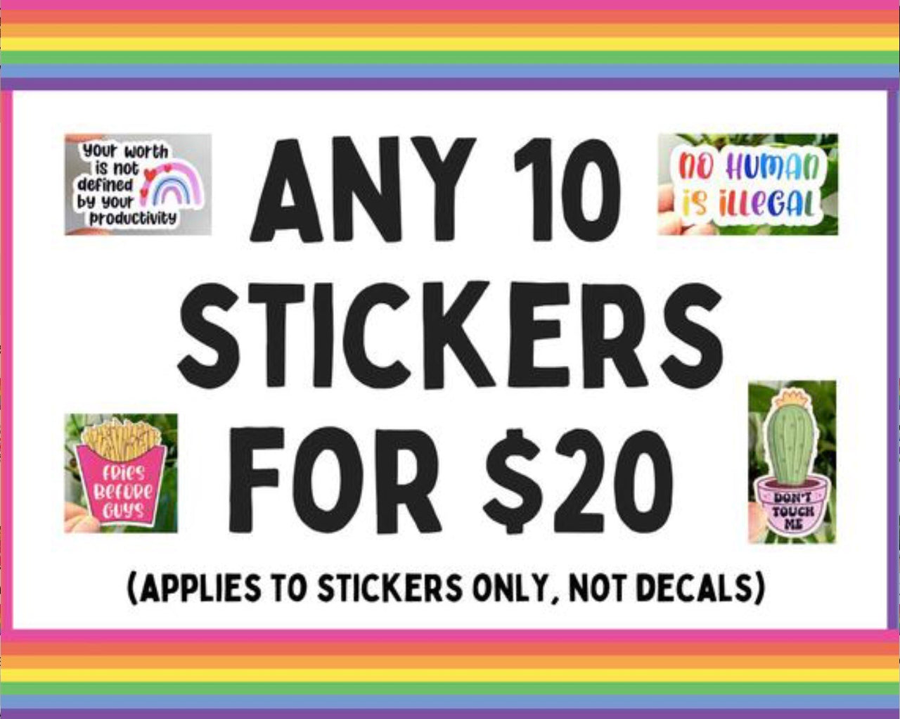 Mix and match sticker bundle - Any 10 stickers
