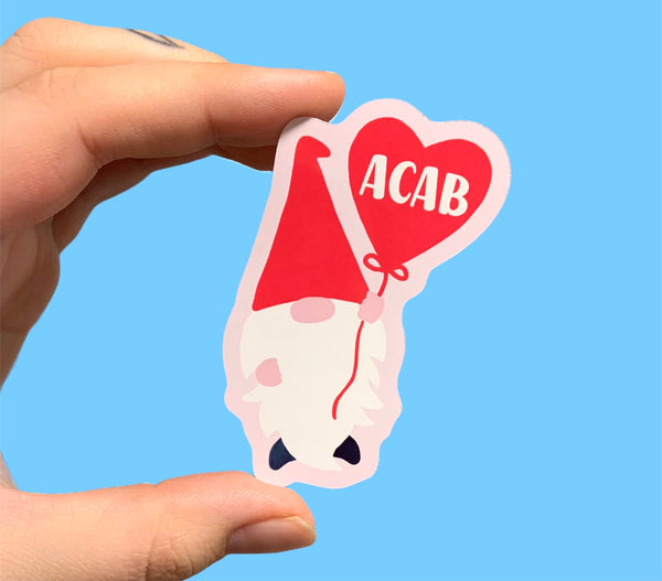 ACAB gnome (pack of 3 or 5 stickers)