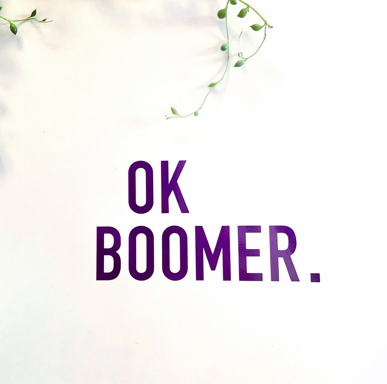 Ok boomer decal - Radical Buttons