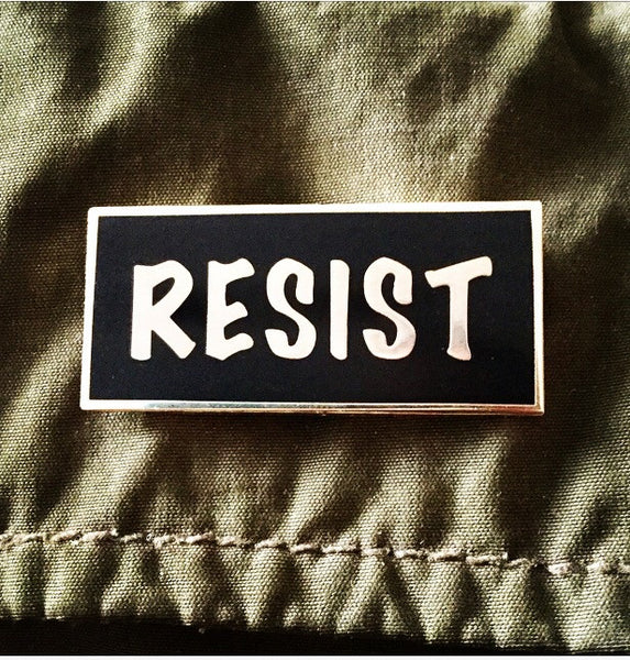Resist enamel pin - Radical Buttons