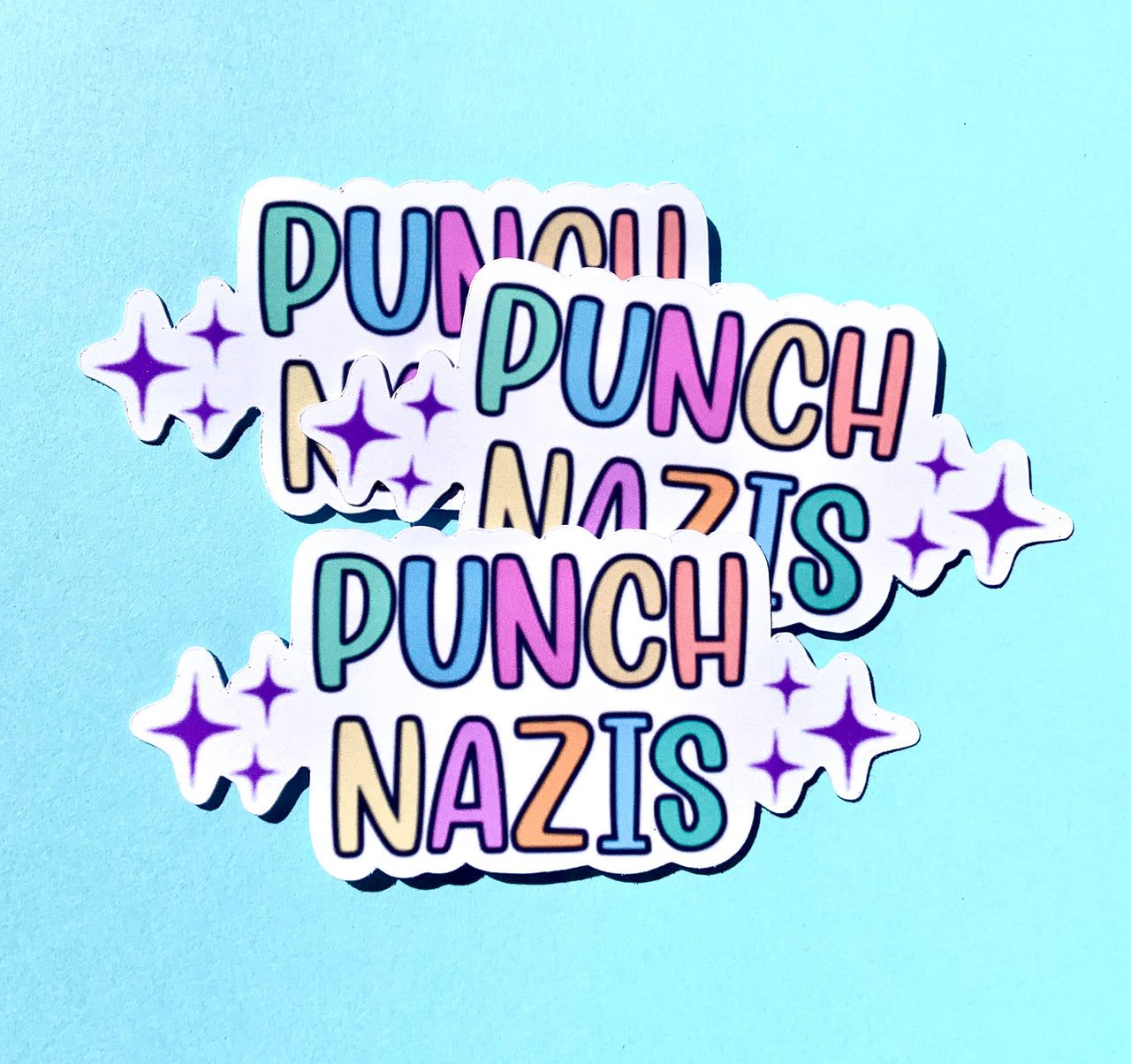 Punch Nazis stickers (pack of 3 or 5)