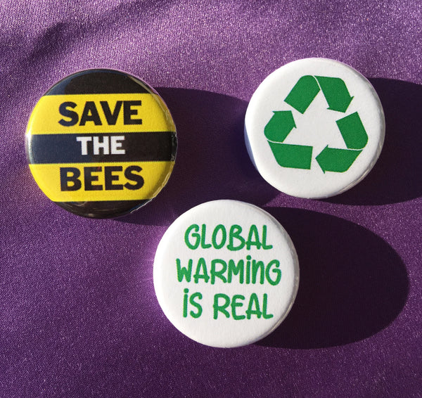 Environmental rights buttons - Radical Buttons
