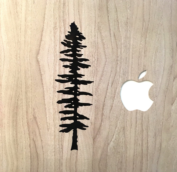 Sitka tree vinyl decal - Radical Buttons
