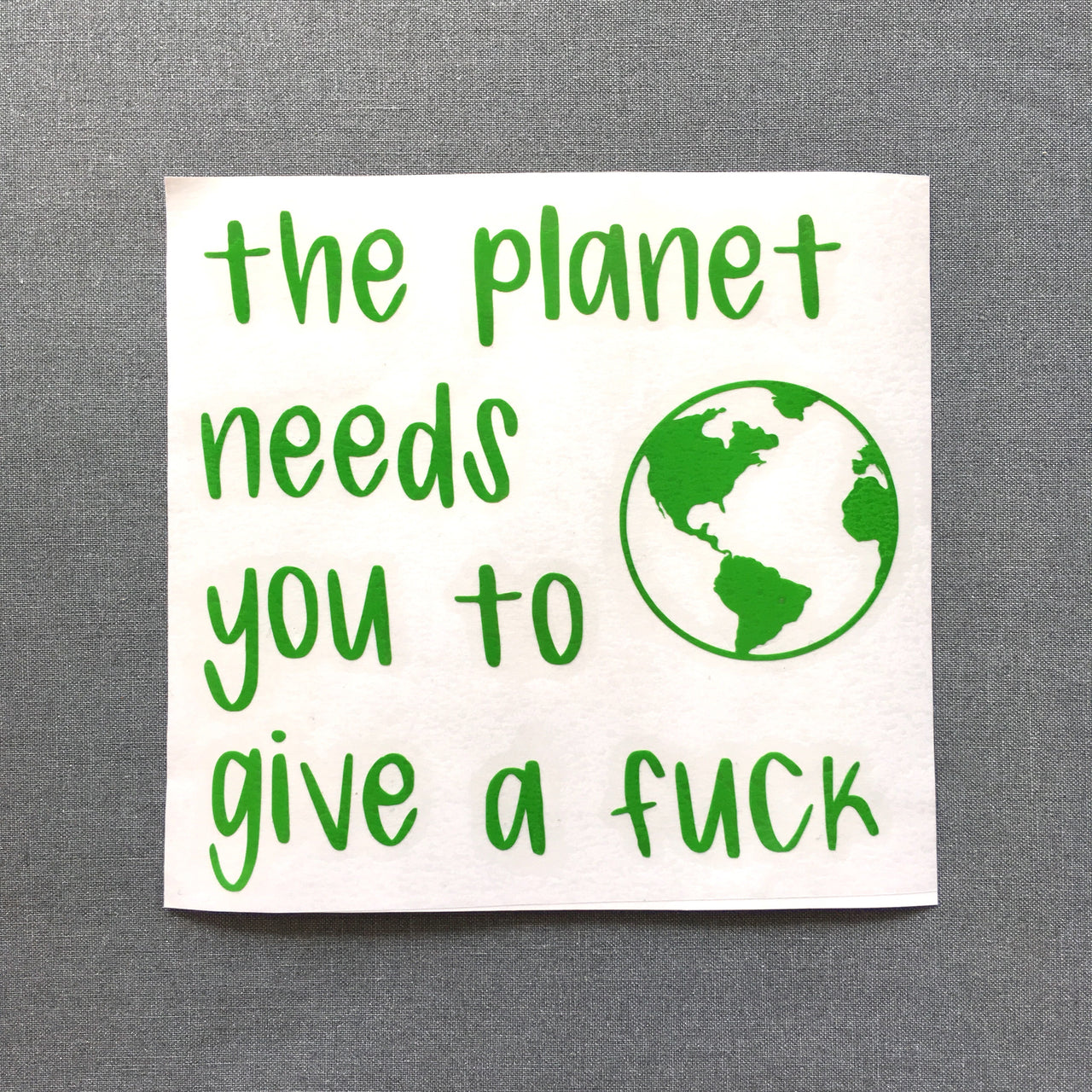 The planet needs you to give a fuck - Radical Buttons